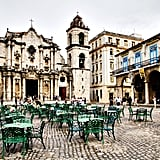 Sit Outside the Cathedral in Old Havana, Cuba