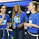 In 2014, Meghan Markle and Serena Williams both participated in the DirecTV Beach Bowl at Pier 40 in New York.