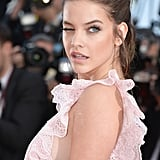 Barbara Palvin Offered a Wink in Her Frilly, Feminine Gown