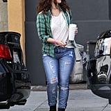 Drew Barrymore visited a production company in Santa Monica.