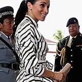 Meghan Markle in a Striped Martin Grant Shirtdress
