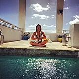 For Lindsay Lohan, there was nothing better than a little sunshine and a moment of zen. Source: Instagram user lindsaylohan