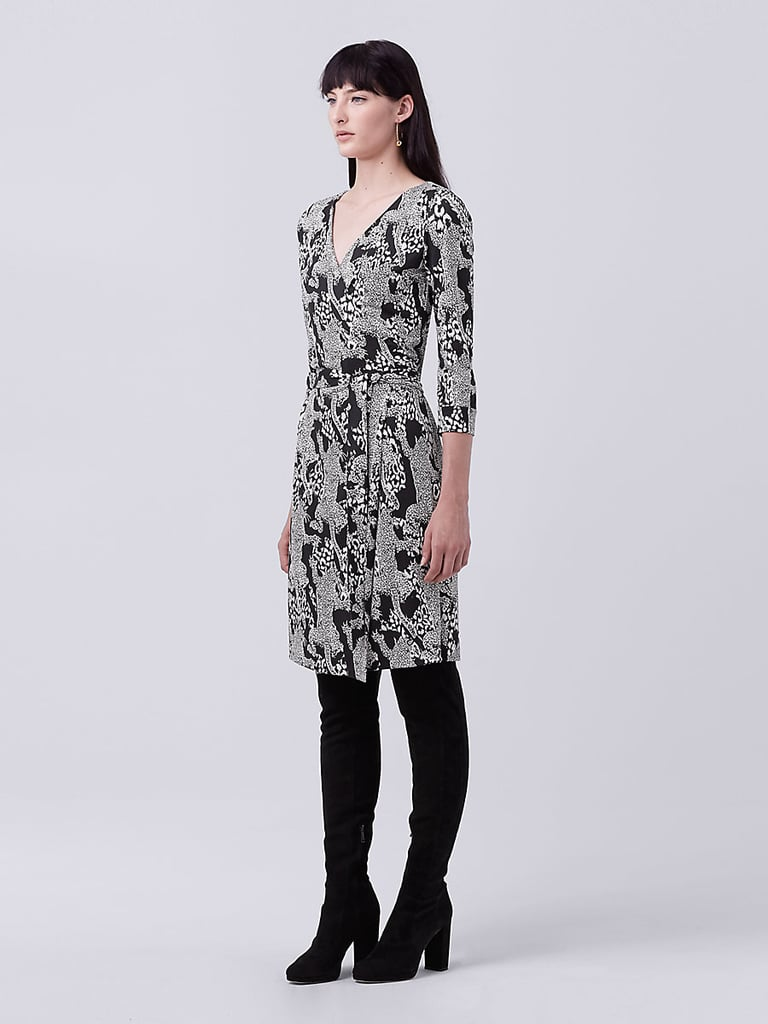 Diane von Furstenberg New Julian Two Silk Jersey Wrap Dress ($398)
