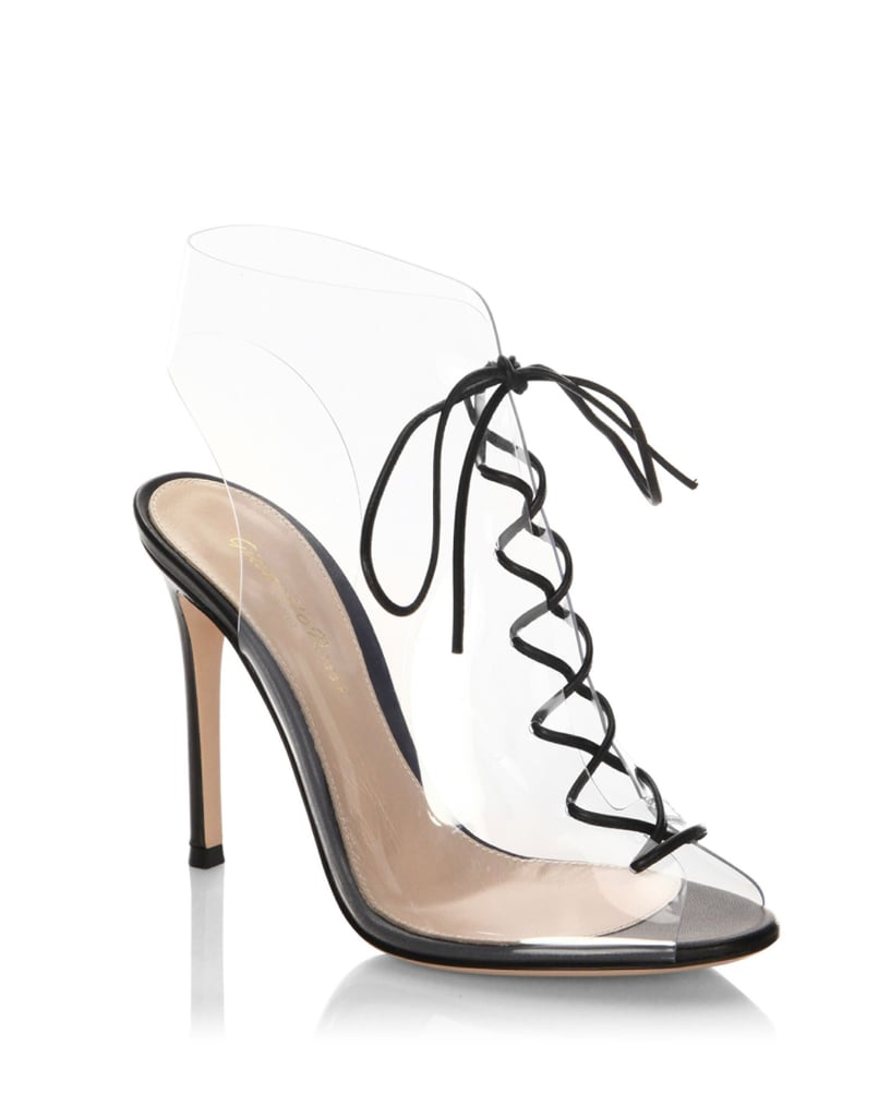 a867d608946 Gianvito Rossi Plexi Lace-Up Booties