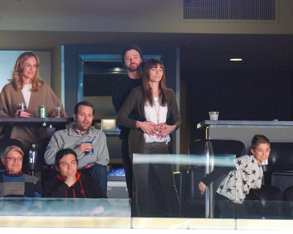 Justin Timberlake Jessica Biel at Lakers Game January 2017