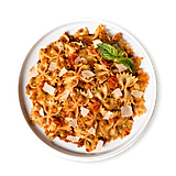 Tiller & Hatch Farfalle Pasta With Marinara Sauce and Ground Turkey