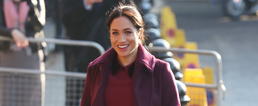 Meghan Markle's Burgundy Dress November 2018