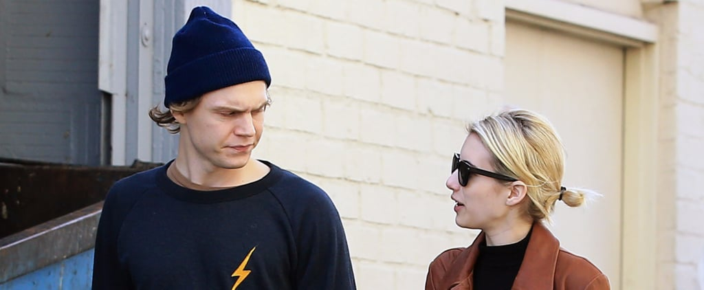 Emma Roberts and Evan Peters Go Casual For a Lunch Outing in LA