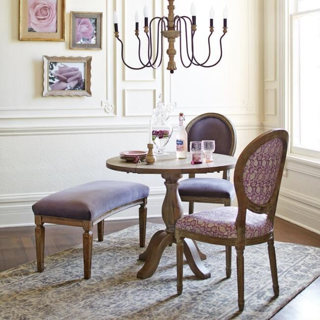 Weathered Gray Jozy Drop-Leaf Dining Collection