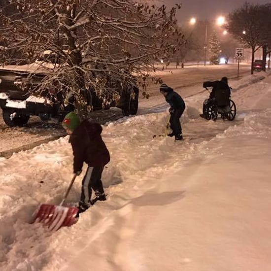 Dad Shares Proud Moment of His Sons Shoveling Snow