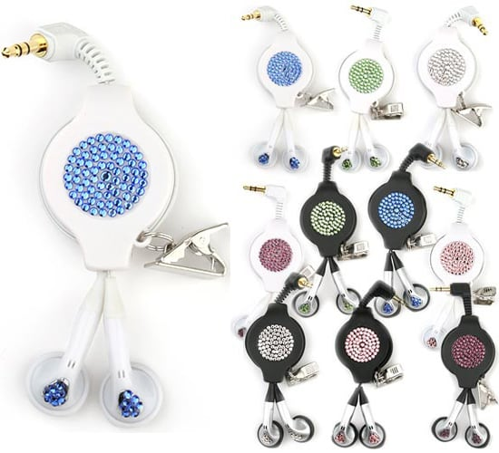 Swarovski Crystal Retractable Earphones: Love It or Leave It?
