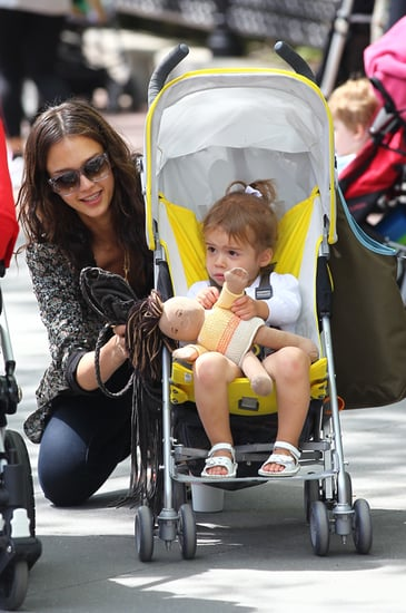 Jessica Alba out and about with her family
