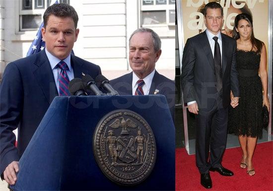 Photos of Matt Damon, Luciana Barroso, Joel McHale at The Informant Premiere, Filming the Adjustment Bureau With Mayor Bloomberg