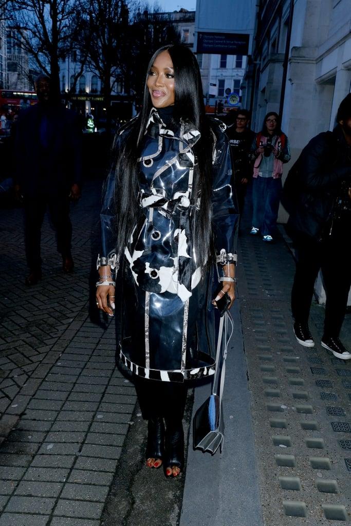 Naomi Campbell's Street Style at London Fashion Week