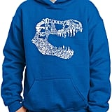 Pop Art Trex Skull Using Popular Dinosaur Names Hoodie