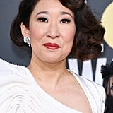 Sandra Oh at the Golden Globes in 2019
