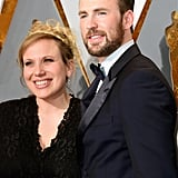 Chris Evans and His Sister at the Oscars 2016