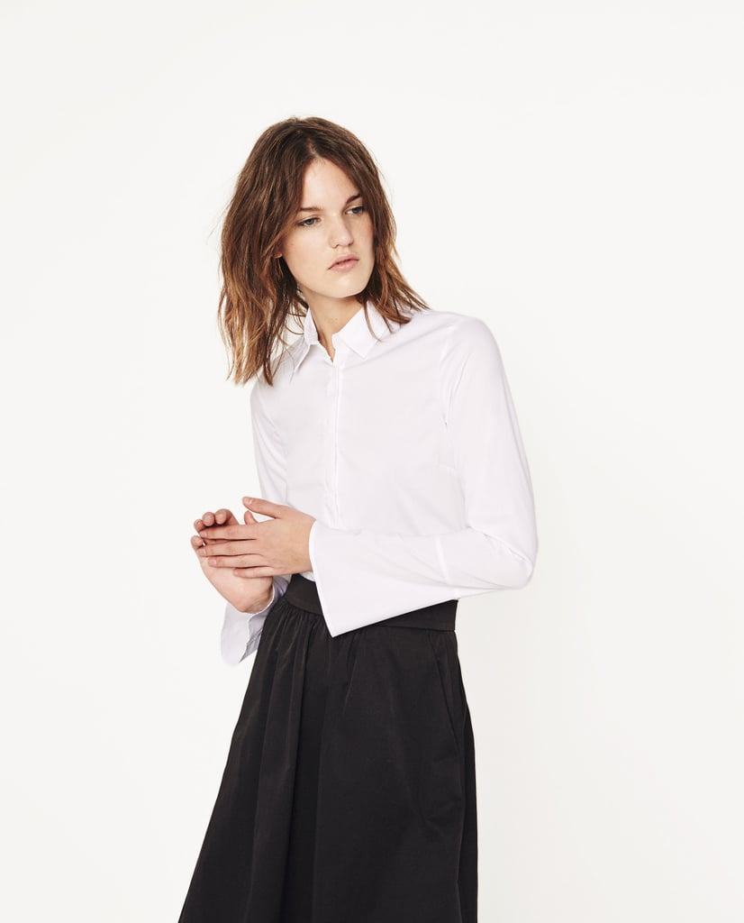 Zara Basic Poplin Blouse (£16)
