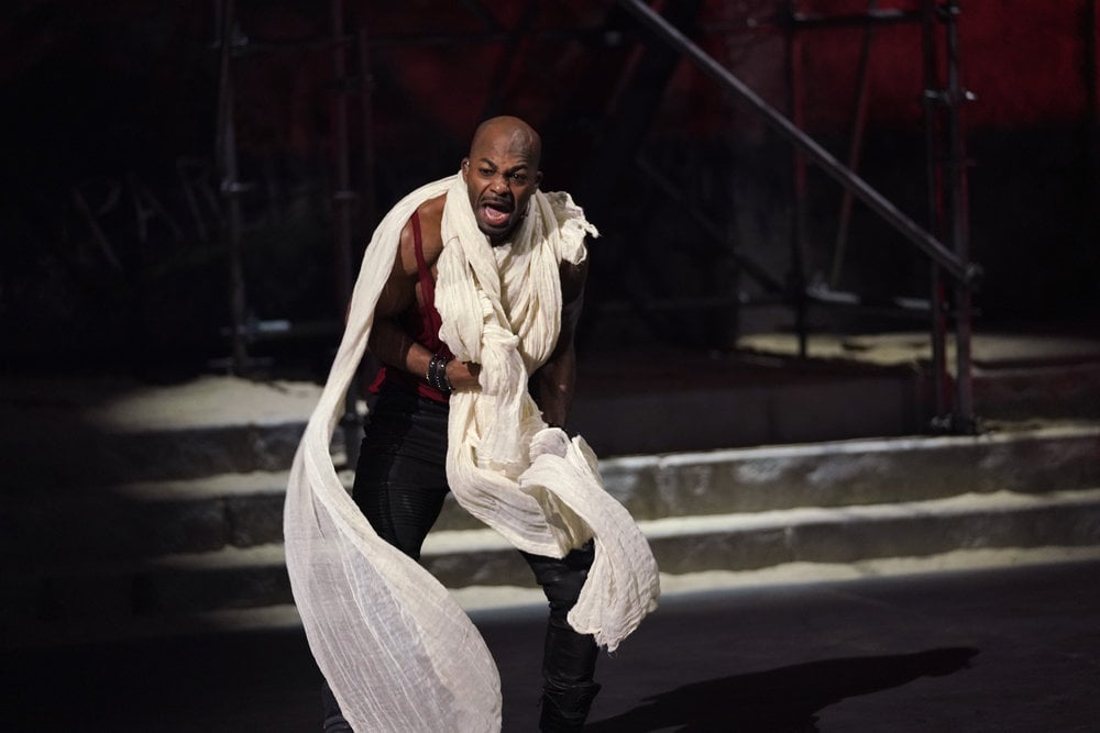 JESUS CHRIST SUPERSTAR LIVE IN CONCERT -- Pictured: Brandon Victor Dixon as Judas -- (Photo by: Paul Lee/NBC)