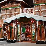 In the lobby, there's a huge gingerbread house made from real ingredients. It smells absolutely delicious!