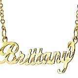 QVC Diamond-Cut Name Plate Necklace