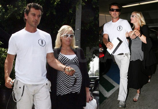 Photos of Pregnant Gwen Stefani and Gavin Rossdale Visiting Doctor's Office in LA