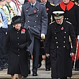 Photos of Royals at Remembrance Sunday and Harry and Chelsy at Rugby