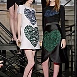 Models at Stella McCartney's Resort 2014 presentation.