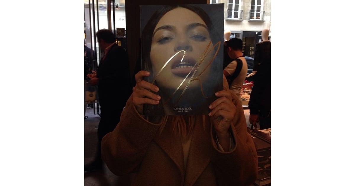 Cr Fashion Book Kim Kardashian Cover ~ Kim kardashian posed with her cr fashion book cover at a