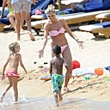 Heidi Klum in a Bikini Pictures in Sardinia