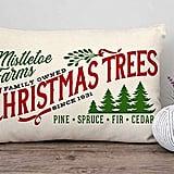 Farmhouse Christmas Tree Throw Pillow Cover