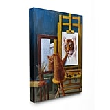 Cat Confidence Self Portrait Wall Art Canvas