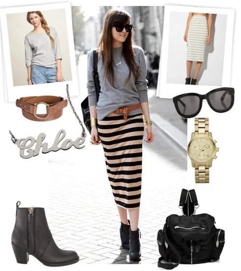 Spring 2011 Street Style Inspiration — Gray Sweatshirt and Stripes