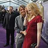 Keith touched Nicole's baby bump at the June 2008 CMT Music Awards in Nashville.