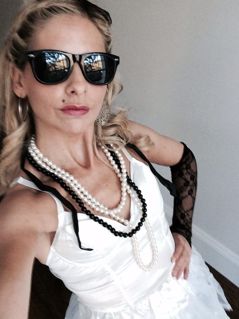 sarah michelle gellar went all out for her madonna costume in 2013
