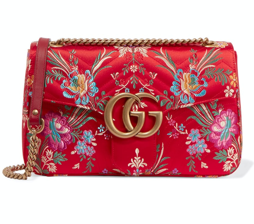 b2989697fe4c Gucci Marmont Quilted Floral Bag | Fall Gucci Bags 2017 | POPSUGAR ...