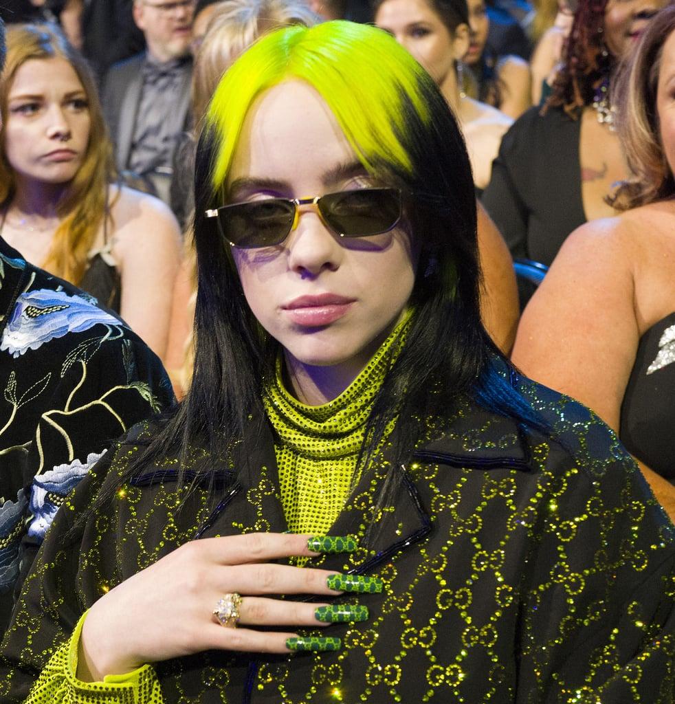 Billie Eilish's Green Gucci Nails at the 2020 Grammy Awards