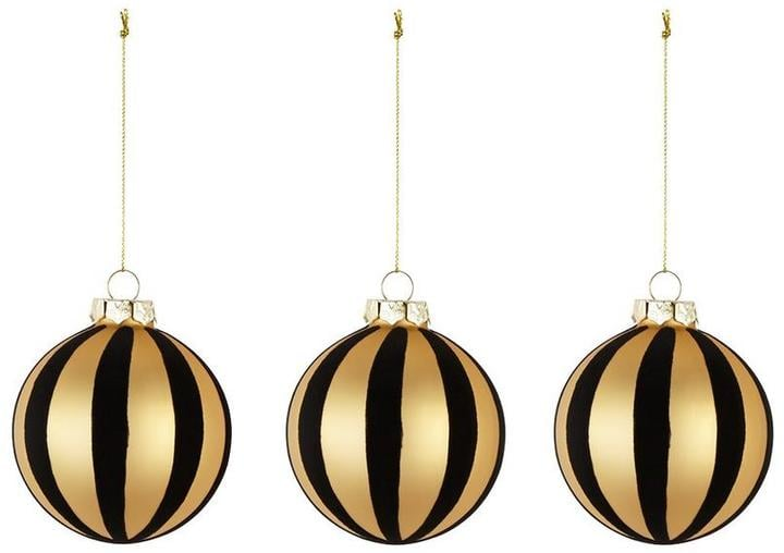 black and gold glass baubles 18 - Black And Gold Christmas Ornaments