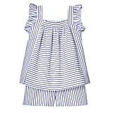 Toddler Girls' Blue Stripe Poplin Tank Top and Short Set  ($20)
