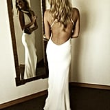 Jennifer Hawkins showed off her fab figure in this backless number for the Blanca White Party in Perth.