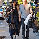 Nikki and Ian walked hand in hand during an NYC stroll in October 2015.