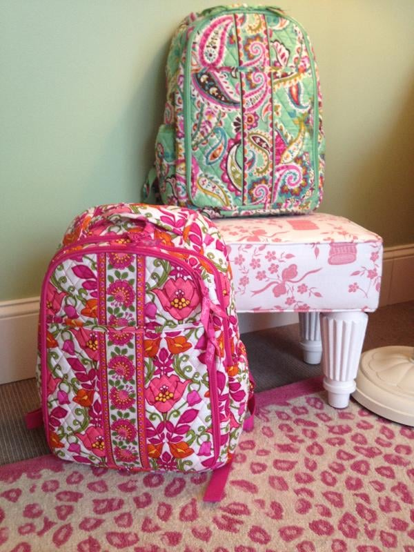 Backpack Baby Bag in Lily Bell and Tutti Frutti ($115)