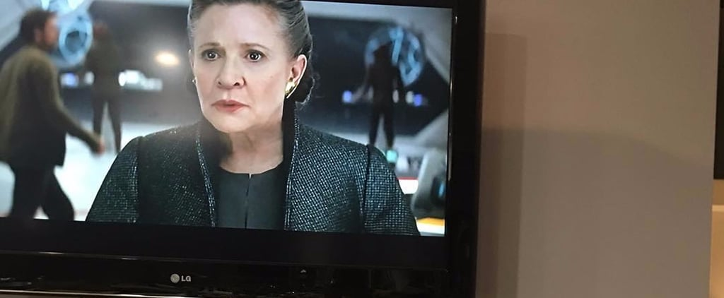 Carrie Fisher's Dog Watched His Mom in the New Star Wars Trailer, and We Need Tissues