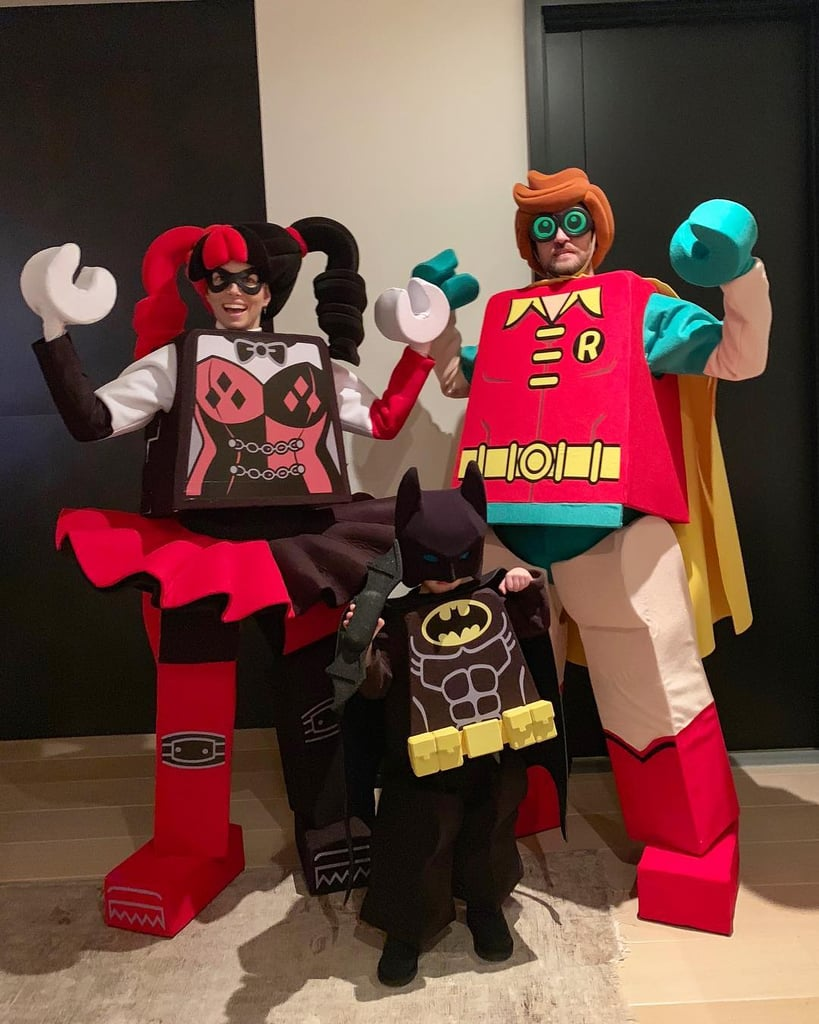 Jessica Biel and Justin Timberlake as LEGO Harley Quinn and LEGO Robin