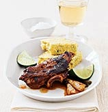 Fast & Easy Dinner: Jerk Chicken With Corn Bread