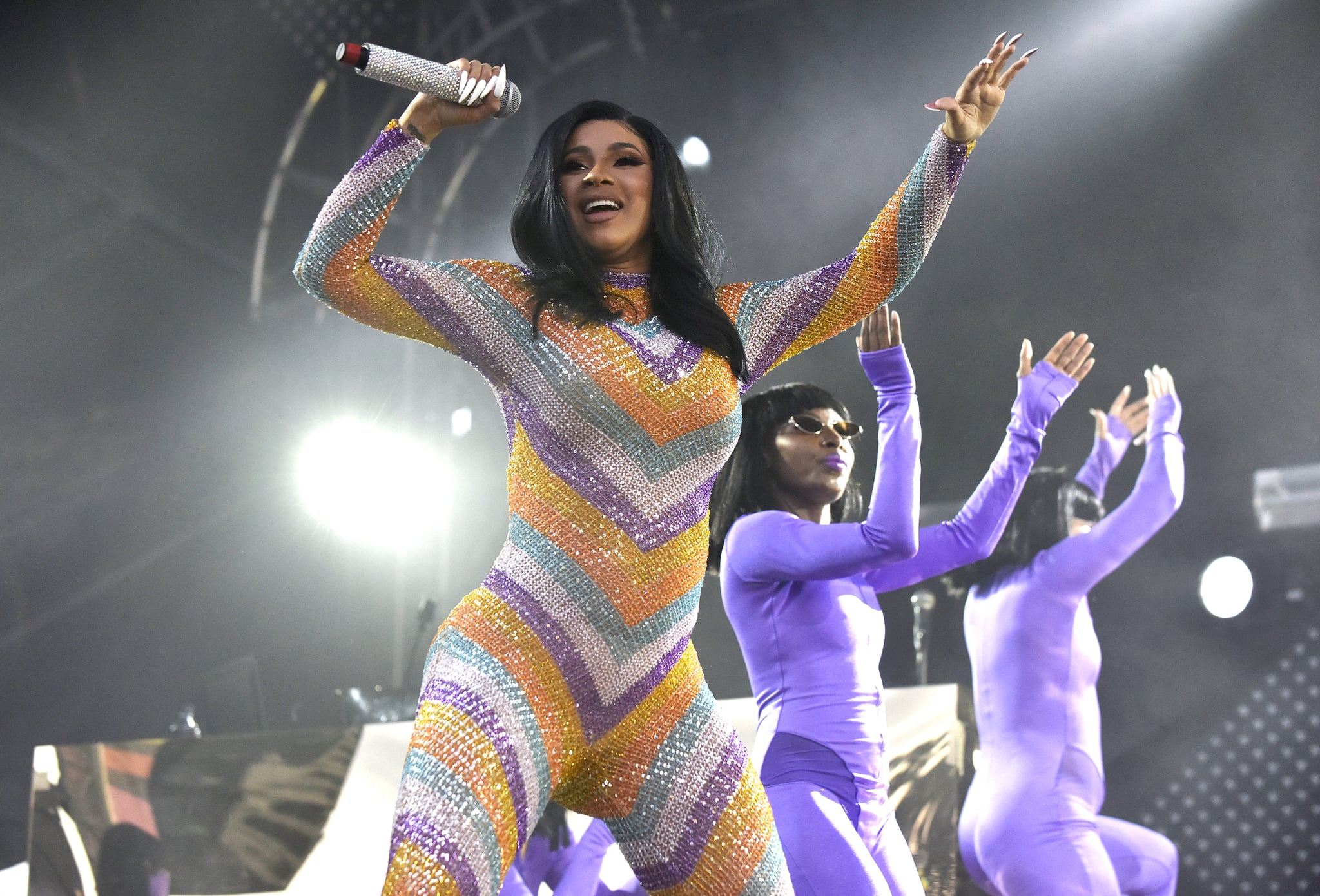 MANCHESTER, TENNESSEE - JUNE 16: Cardi B performs during the 2019 Bonnaroo Music & Arts Festival on June 16, 2019 in Manchester, Tennessee. (Photo by Tim Mosenfelder/Getty Images)