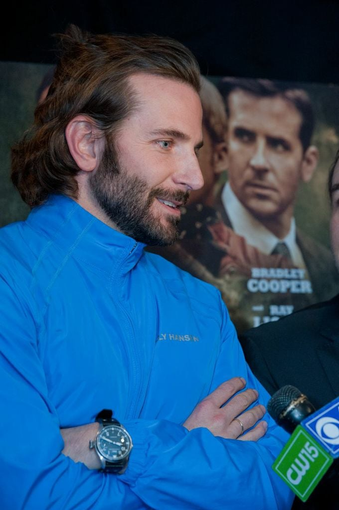 Bradley Cooper did interviews in Schenectady.