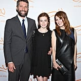 On Saturday, Julianne Moore attended the A Funny Thing Happened on  the Way to Cure Parkinson's event with her husband, Bart Freundlich, and their daughter, Liv Freundlich, in NYC on Saturday.