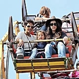 Halle Berry and Nahla at Knott's Berry Farm.