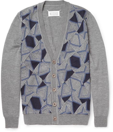 Maison Martin Margiela Patchwork Patterned Wool Cardigan